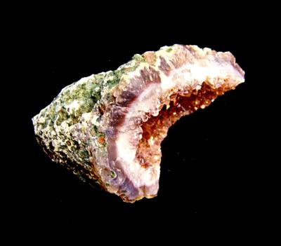 AGATE WITH AMETYST DRUZE GEODE SECTION.   SP11591