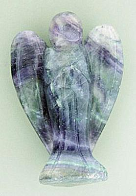 ANGEL CARVING IN FLUORITE.    SPR176POL