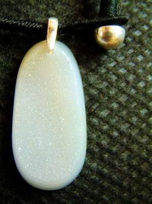 AGATE WITH QUARTZ PENDANT. SP1992PEND