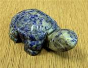 TORTOISE CARVING IN LAPIS LAZULI. SP7321POL
