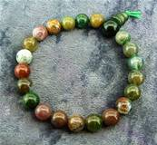 FANCY AGATE POWER BEAD BRACELET. SPR6013
