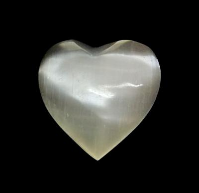 SELENITE (SATIN SPAR) HEARTS