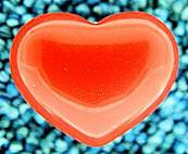 RED CORAL GEMSTONE HEARTS ( SMALL).   SPR221POL