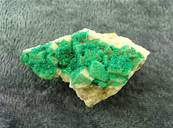 DIOPTASE CRYSTAL FORMATIONS ON MATRIX. SP6920