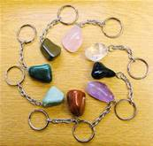 POLISHED PEBBLE KEYRINGS. SPR4896