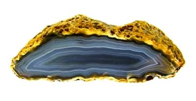 AGATE NODULE SECTION WITH POLISHED CUT FACE. SP9622POL