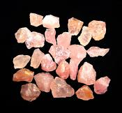 ROSE QUARTZ GEMMY CRYSTAL CHIPS.   SPR11123