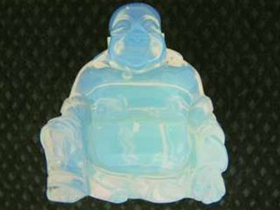 OPALITE BUDDA CARVING. 48MM TALL X 43 X 23MM. 58g. SP327POL