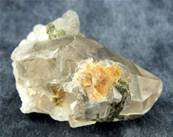 QUARTZ WITH EPIDOTE POINT SPECIMEN. SP3562