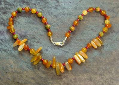 "18"" BEAD NECKLACE. SP4550"