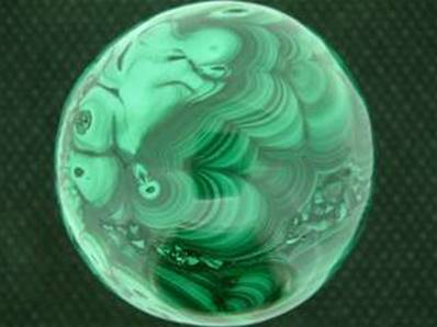 MALACHITE SPHERE FROM THE CONGO. 77MM IN DIAMETR. 1.148Kg. SP942POL