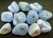 BLUE LACE AGATE POLISHED PEBBLES. SPR3862POL