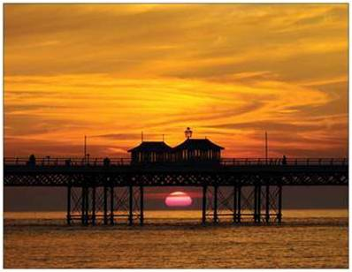'Mid Summer Sunset' Cromer by Danny Hickling Pier A6 Art Print