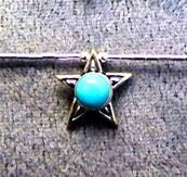 925 SILVER NECKLACE WITH STAR SHAPE PENDANT. 942NT
