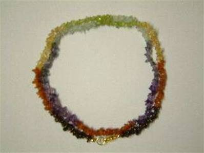 "CHAKRA CHIP NECKLACE WITH LOBSTER CLASP. 24"". 20g. CHAKCHIP24"