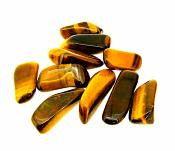 TIGERSEYE TUMBLE STONES (10 PACK).   SP10257POL