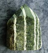 CHRYSOTILE IN SERPENTINE TOP POLISHED POINT SPECIMEN. SP4949POL