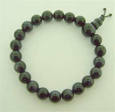BLUE GOLDSTONE POWER BEAD BRACELET. SPR3040