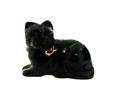 CARVING OF A CAT IN SUGILITE.   SP11587POL